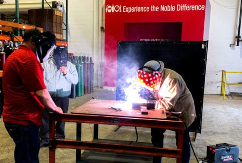 Lincoln Electric Ranger 330MPX Welding Demo
