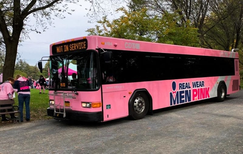 CDTA bus decorated for Making Strides event