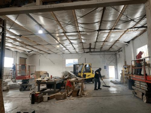 Interior Construction of Glens Falls Store